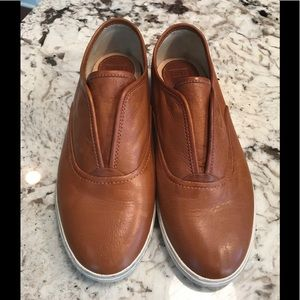 Frye Kerry Brown Leather Slip-on Shoes sz 9